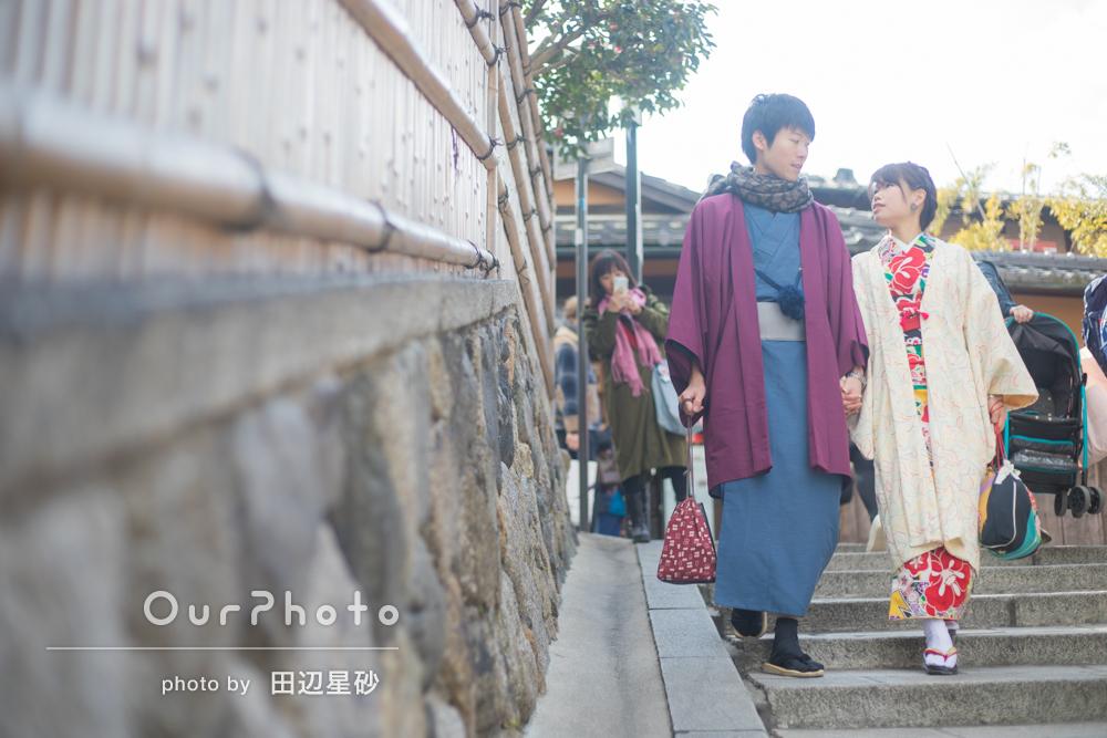 京都で和装デート、カップルフォトの撮影
