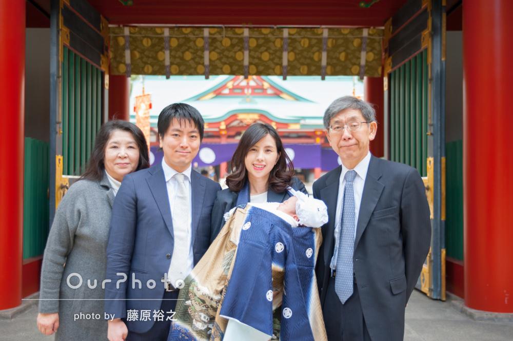 幸せいっぱい!神社と料亭でお宮参りとお食い初めの撮影