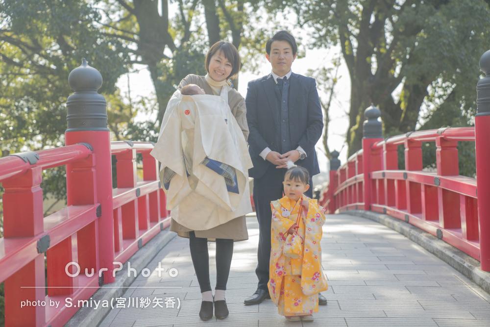 家族みんなでお祝い!神社で七五三とお宮参りの撮影