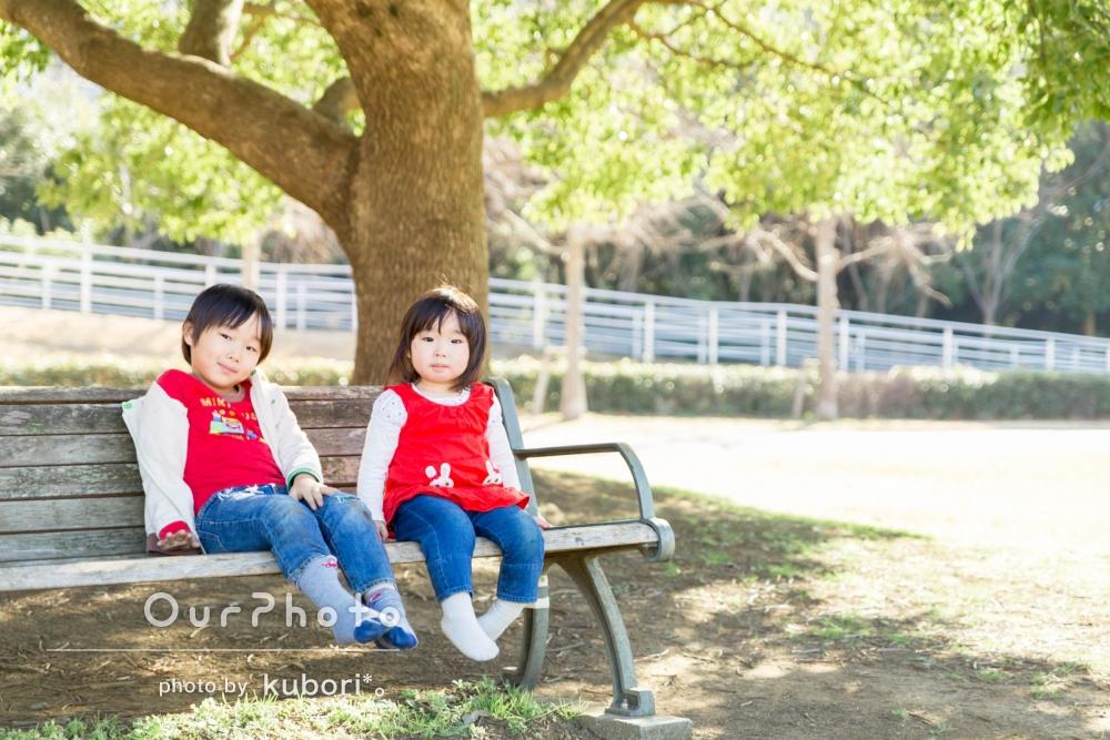 「子供の目線にたって上手に相手をしてくださった」家族写真の撮影