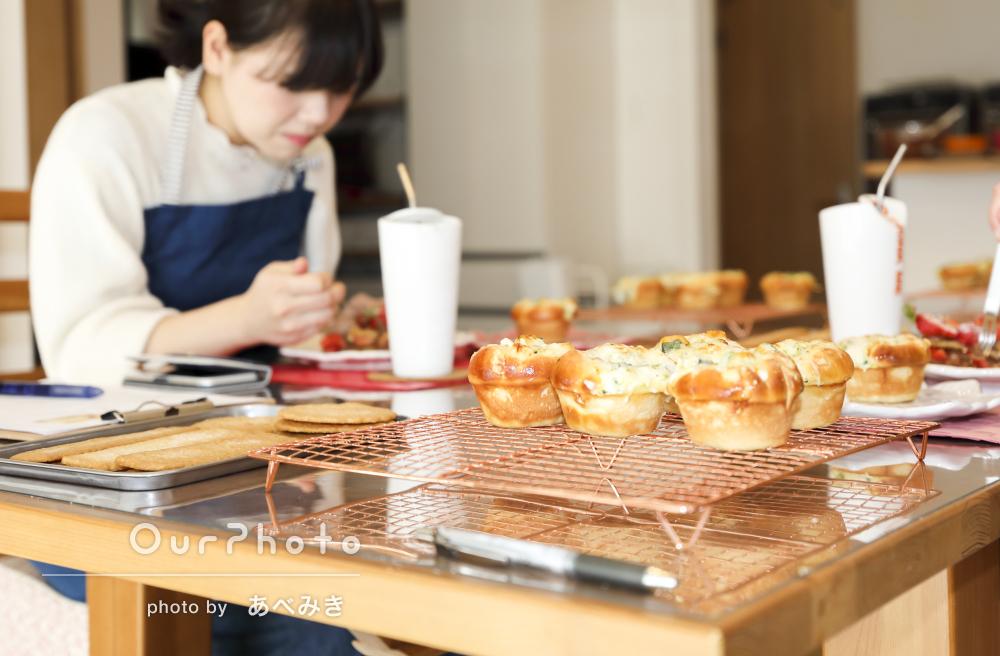「大大大満足です!」お菓子作りイベントの撮影
