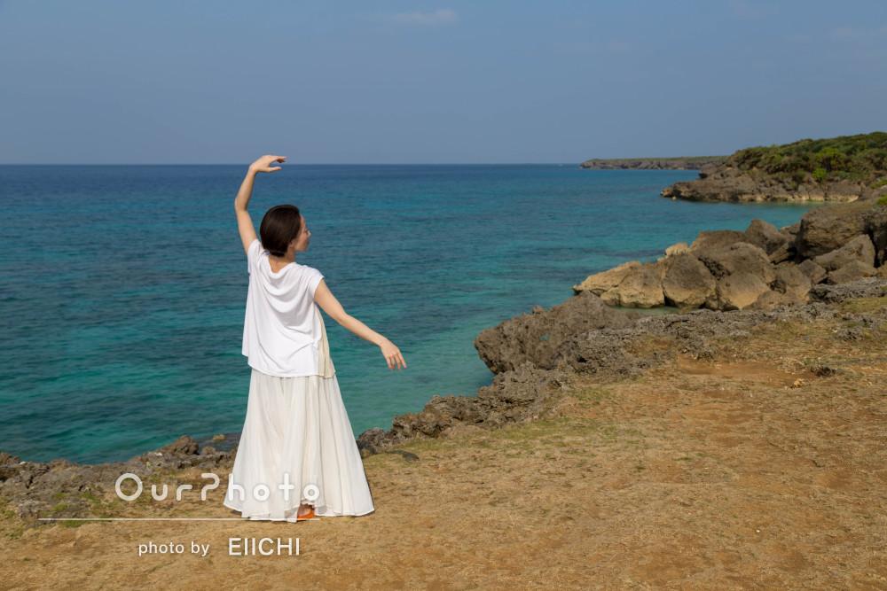 沖縄の離島で。雄大なアーティスト写真の撮影
