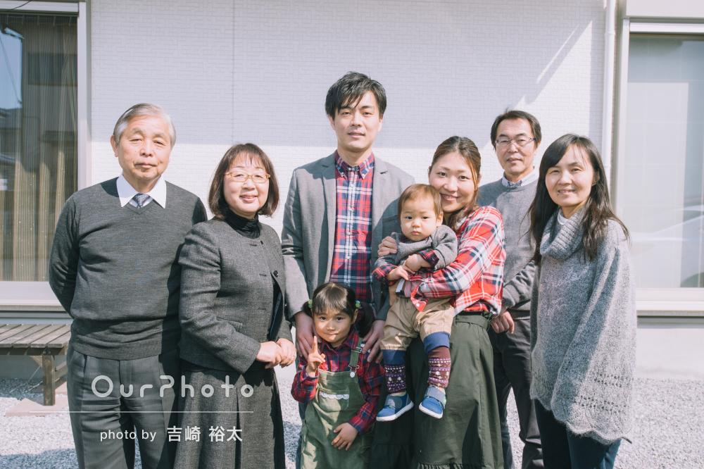 弟くんの誕生日のお祝いで!家族写真の撮影