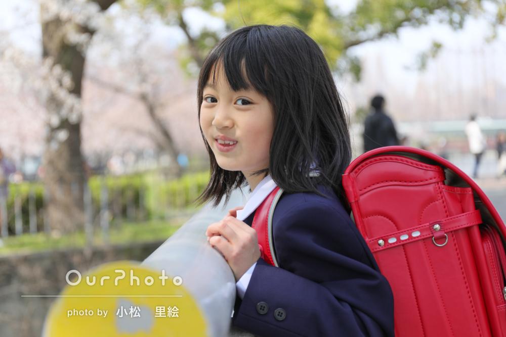 小学校入学の記念に!「春らしい」撮影