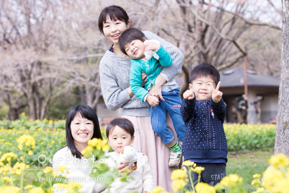 「安心して撮影にのぞめました!」ママ姉妹と息子たちみんなで家族写真