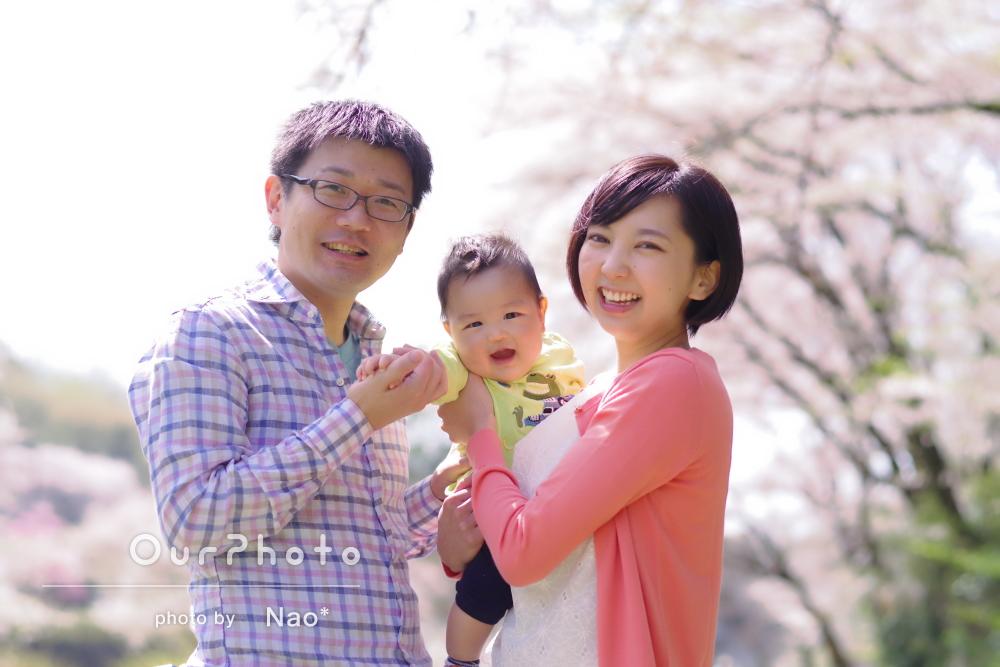 「楽しく撮影していただきました」ふんわり幸せな雰囲気の家族写真