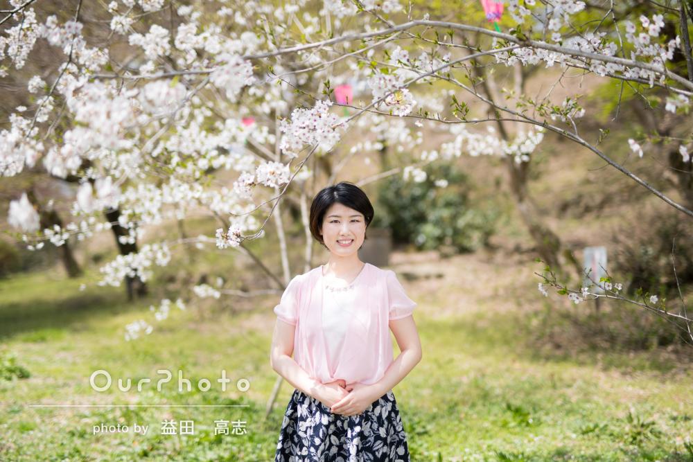 「最高の形で撮影をしていただきました」春らしいプロフィール写真の撮影