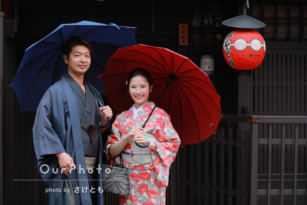 「交際している彼の30歳誕生日サプライズで」京都で着物カップルフォト