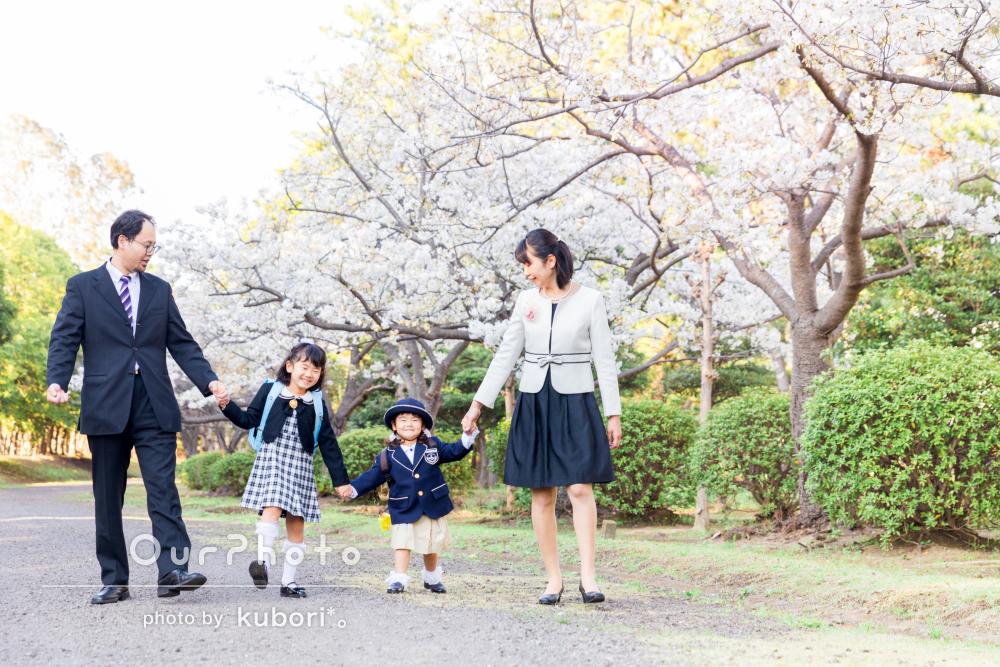「姉妹の入園入学の写真を桜の木の下で」撮影してほしい!