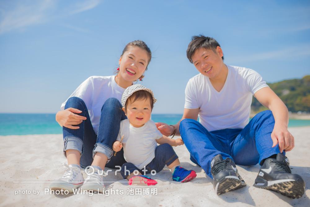 「ぜひ二歳の記念も」夏を先取り!お子様の1歳記念に家族写真