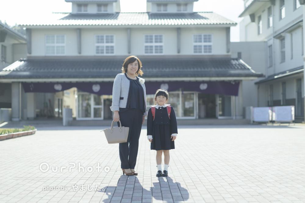 「とてもリラックスしてすてきな写真をたくさん」入学式当日に、記念撮影