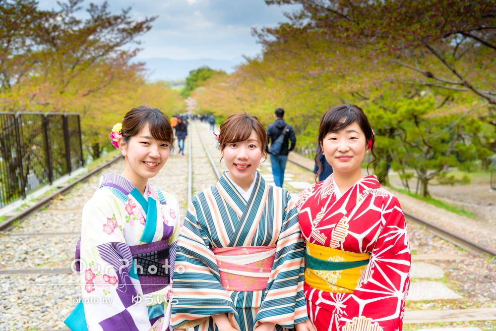 「自然な笑顔」「仕上がりも大満足」京都女子旅で着物フォト