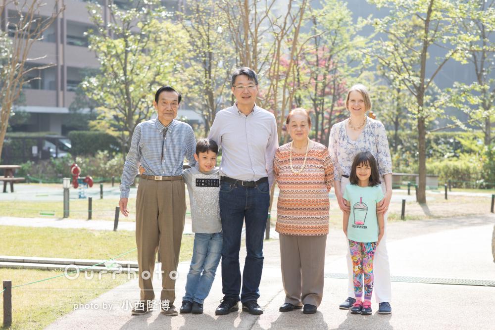 一時帰国する息子家族と3世代の家族写真を撮影してほしい!