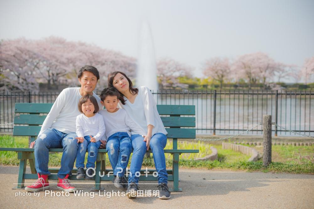 入園・入学の記念に!カジュアルリンクコーデで家族写真の撮影!