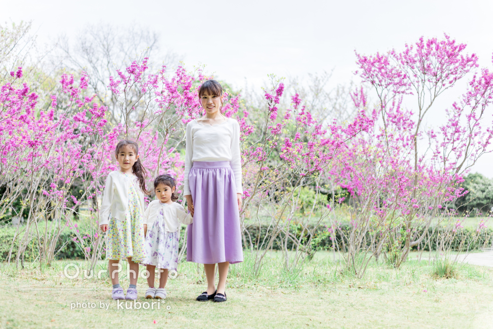 「こんな自然な感じで撮れたの初めて」花いっぱいのふんわり家族写真