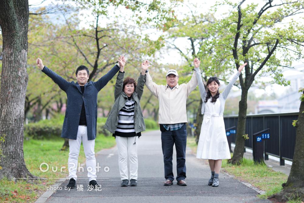 「楽しく撮影」「とても良い思い出」家族写真の撮影