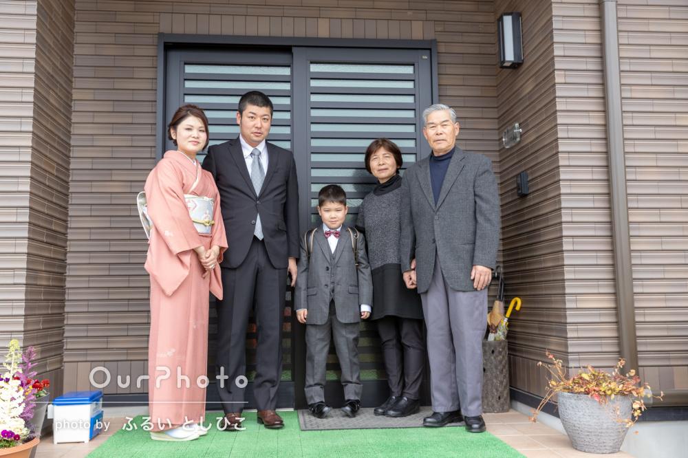 「笑顔がたくさん溢れ…」祖父母様も一緒に!入学記念に家族写真の撮影
