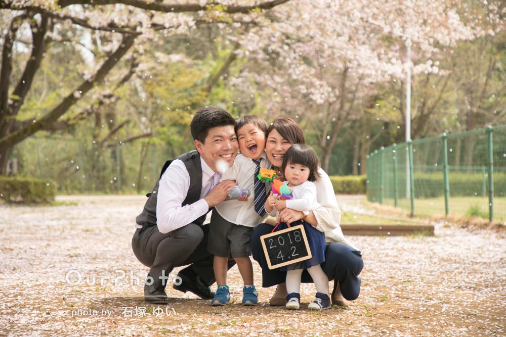 「安心してお願いすることができました」入園の記念に家族写真の撮影