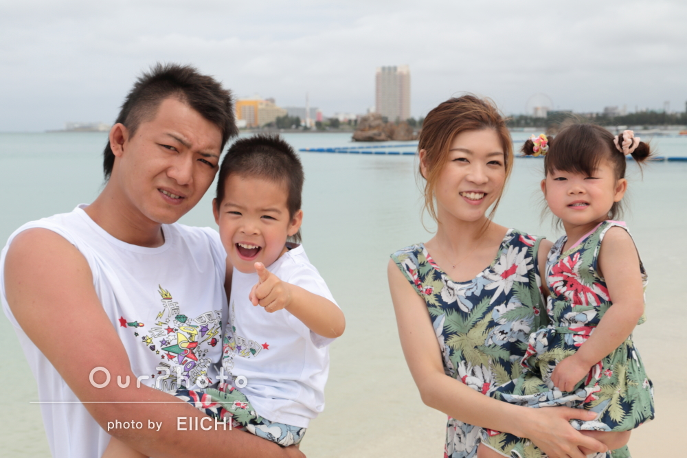 沖縄旅行の記念に!家族の自然な姿を撮影してほしい!