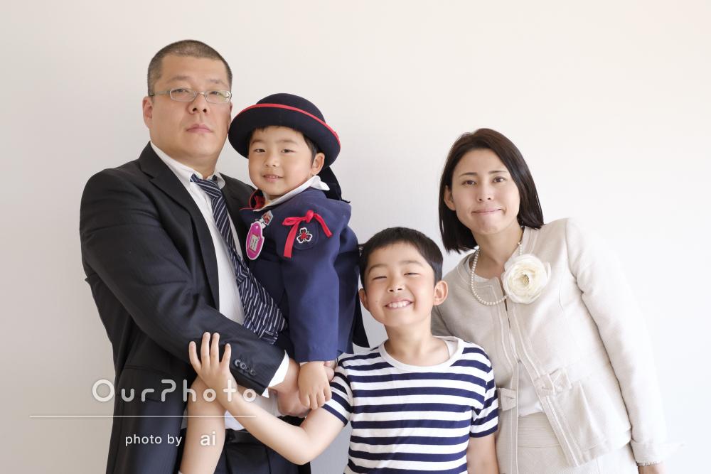 「とても素晴らしい」「お願いして本当に良かった」家族写真の撮影