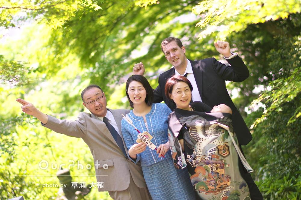 「もう3回目!」「自然で素敵な写真」リピーター様のお宮参りの撮影