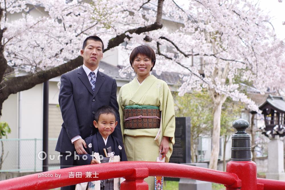 「思い通りの写真」「感激です!」桜と一緒に七五三の前撮り