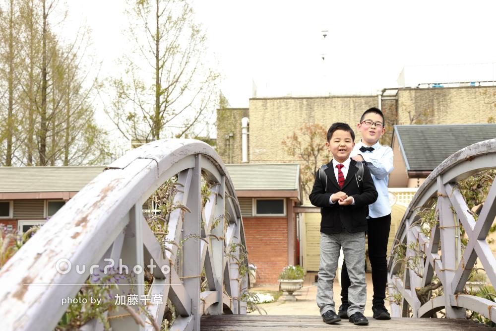 「今の子ども達の自然な姿を素敵に」お子様の入学を記念した撮影