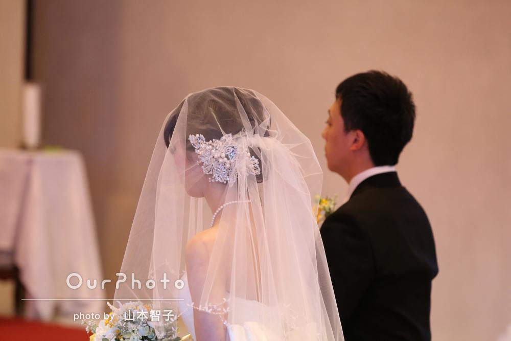 神聖な雰囲気を切り取った結婚式の撮影