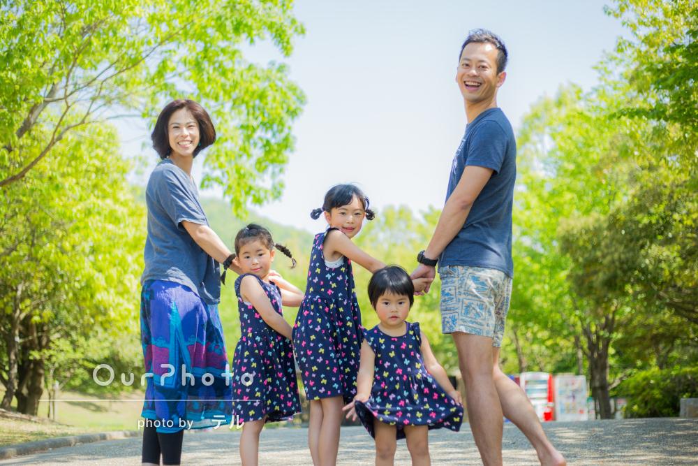 「楽しく撮影してもらいました」元気いっぱい!家族写真の撮影