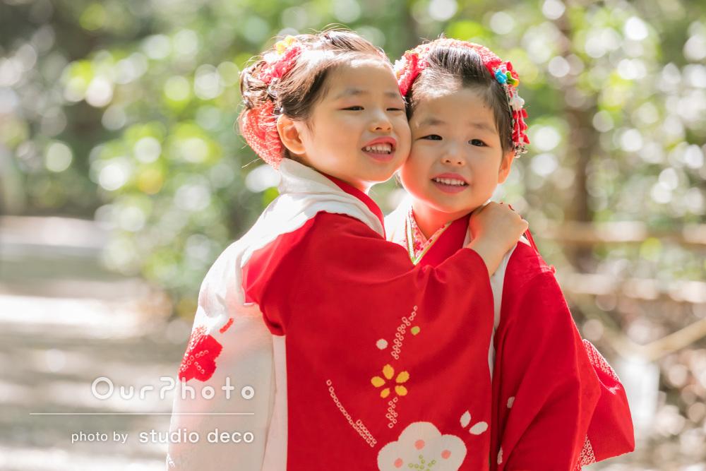 「和ませてもらって笑顔の写真を」双子ちゃんの七五三の前撮り