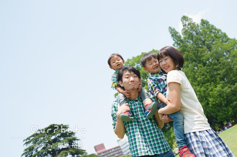 「子供の笑顔を引き出したよい撮影をいただけました」家族写真の撮影