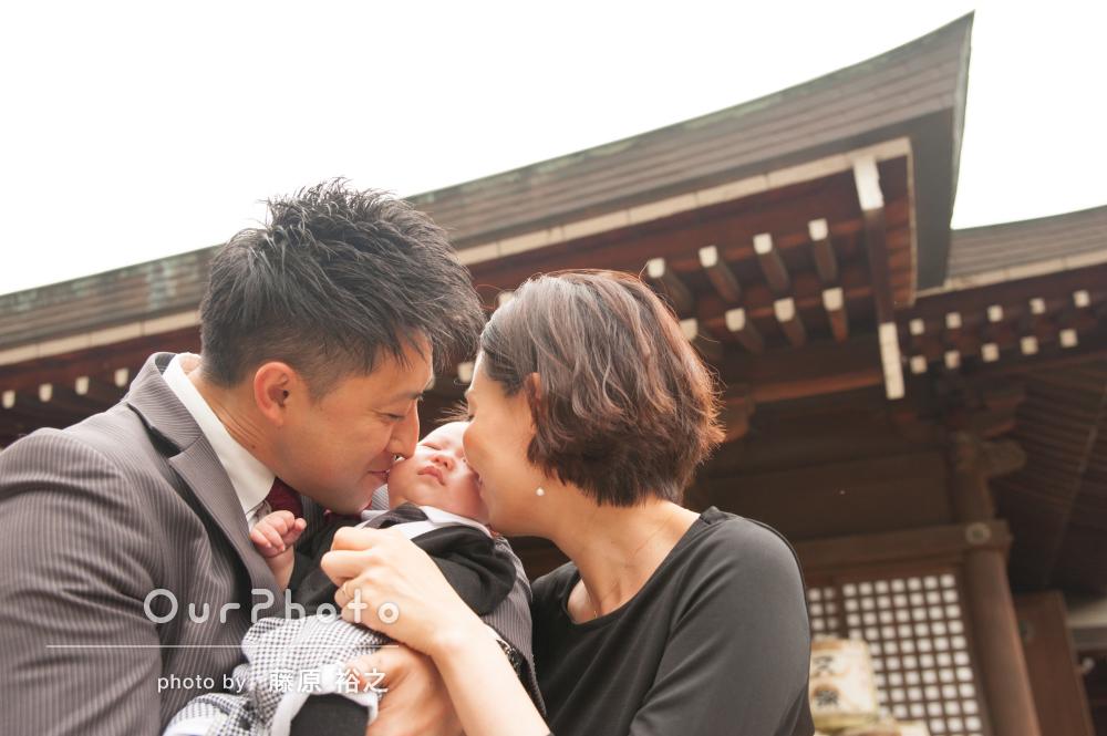 「楽しく撮影させていただきました」愛情たっぷりお宮参りの撮影