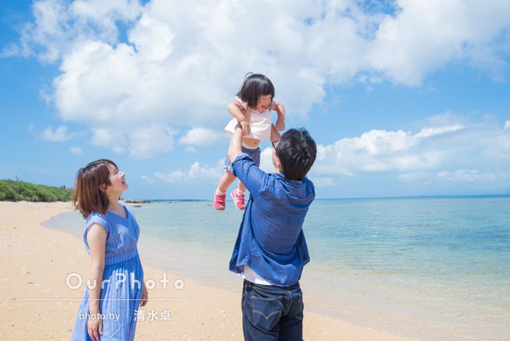 「人見知りの娘がとても楽しそうに」石垣島で2歳記念の家族写真
