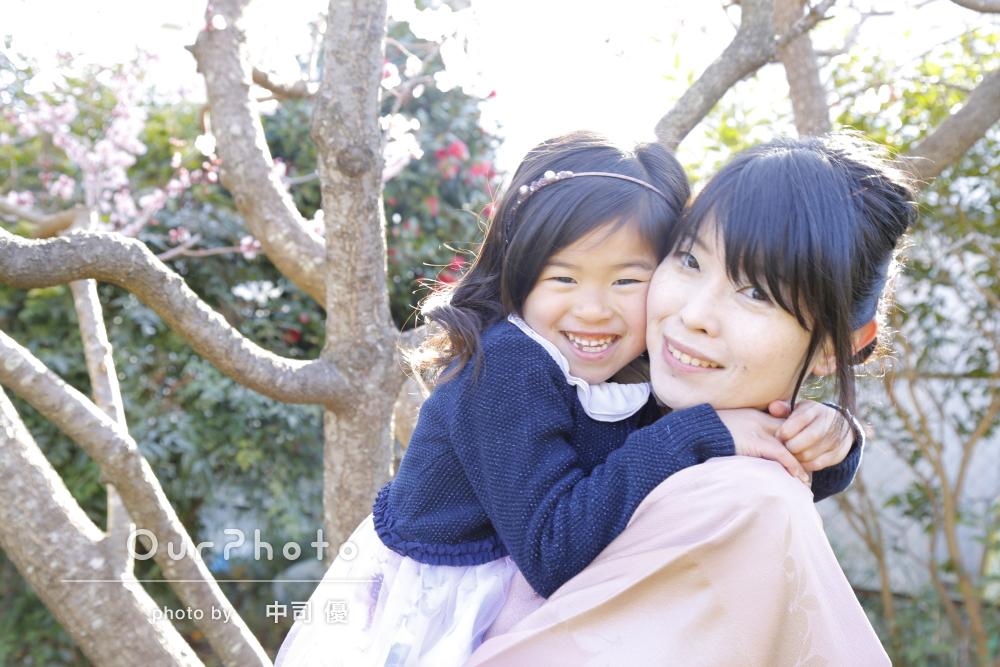 「娘との笑顔の写真を残す事が出来、感謝」卒園記念に親子写真の撮影