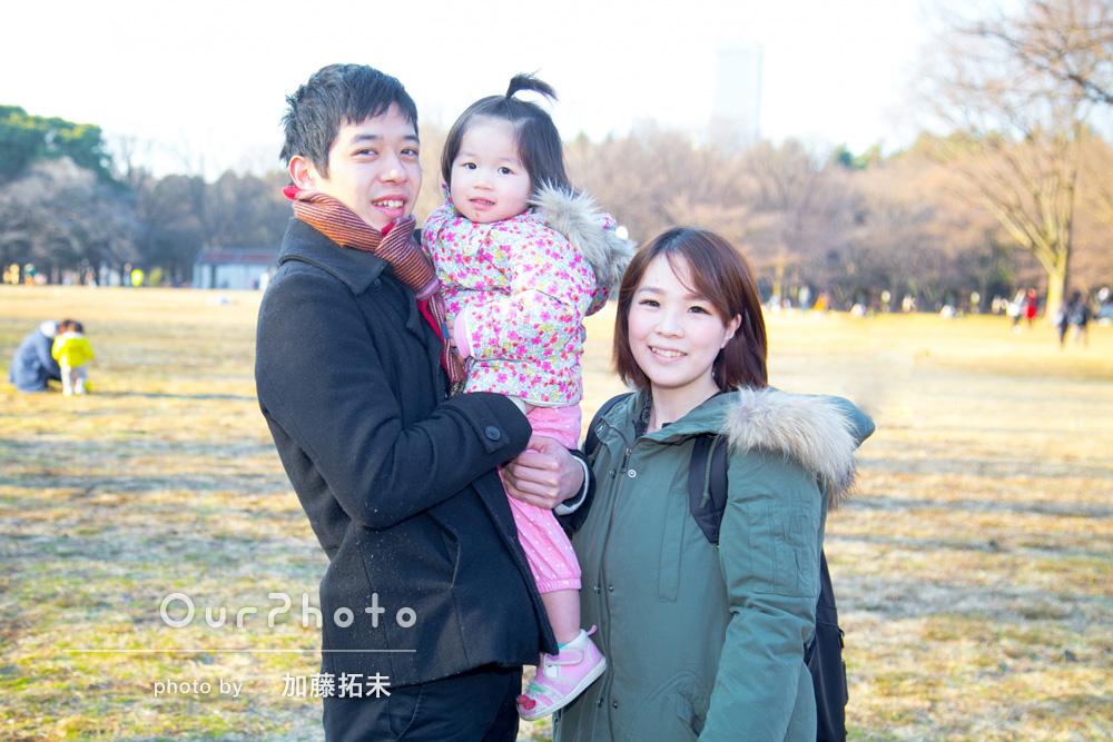 「優しく対応して頂けました!ありがとうございました」家族写真の撮影