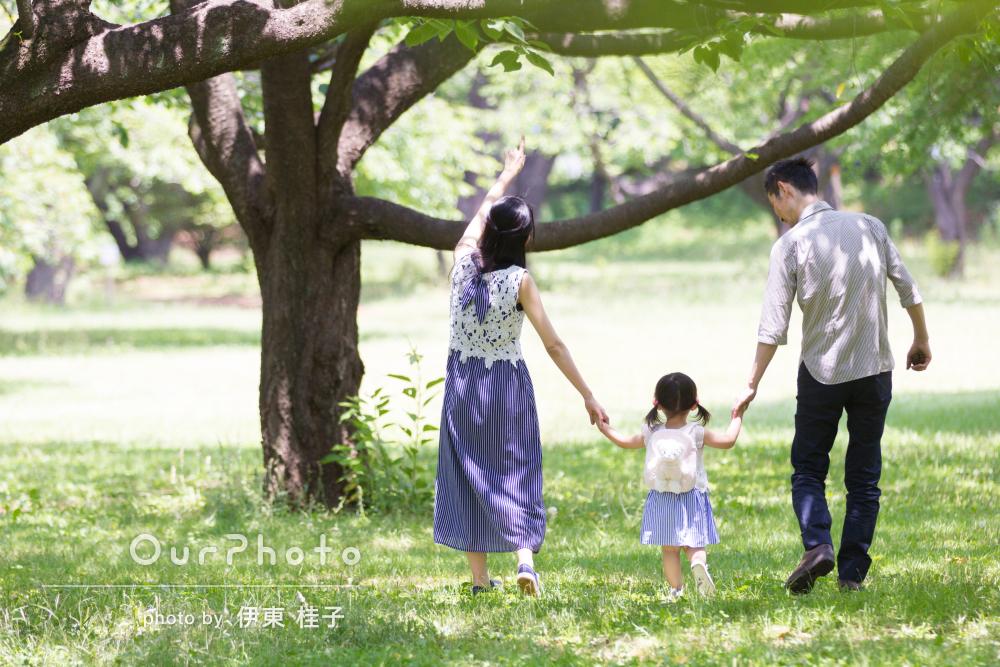 「ふんわり柔らかく優しい感じ」家族写真の撮影