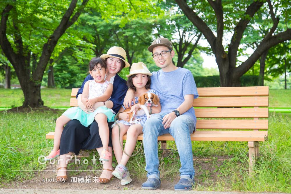 「どれも素敵なものばかり」ワンちゃんも一緒に家族写真の撮影