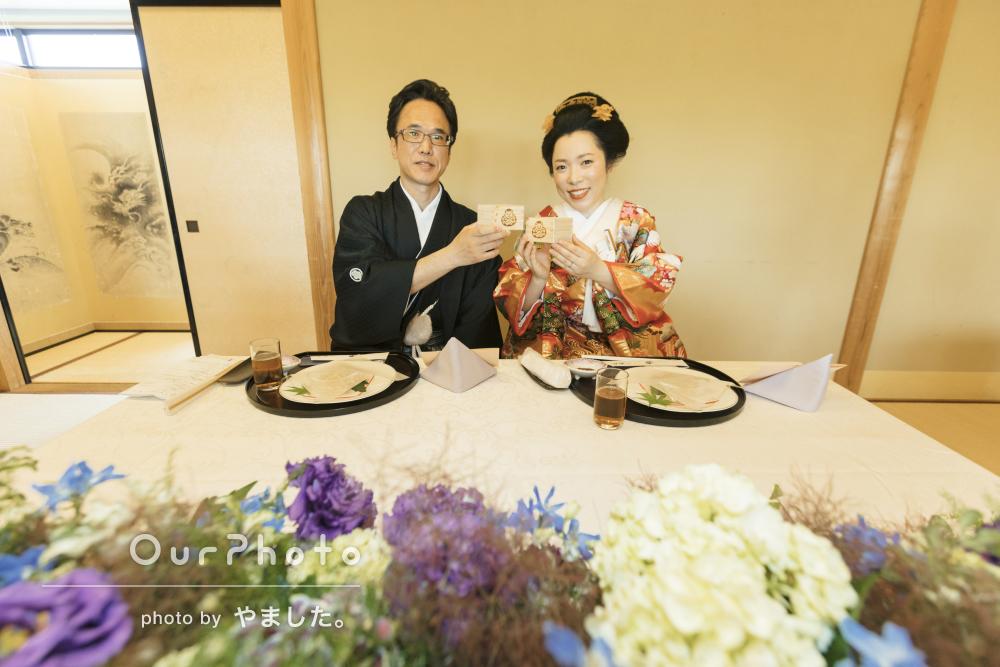 「私達の和やかな表情を撮影して頂き本当に良かった」結婚式の撮影