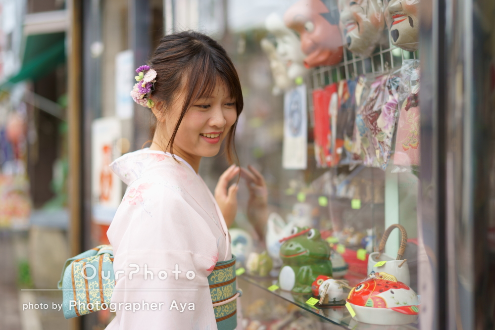 台湾から!旅の思い出に日本らしさあふれるプロフィール写真の撮影