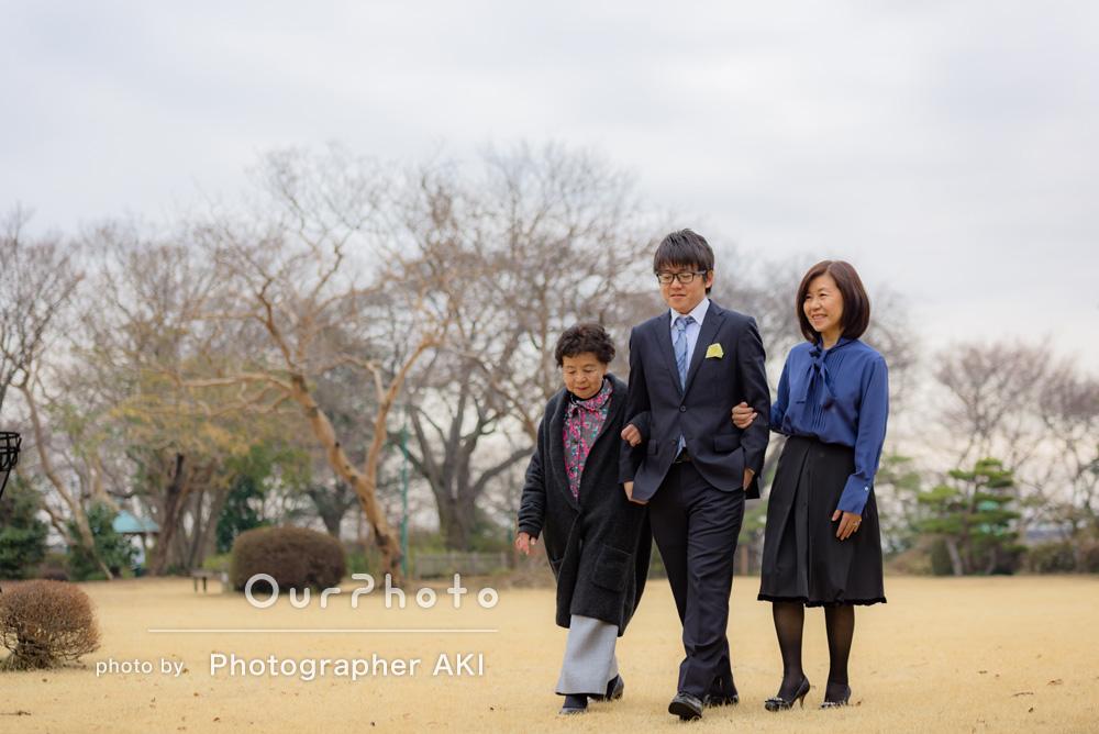 「息子の二十歳の良い記念になりました。」家族写真の撮影