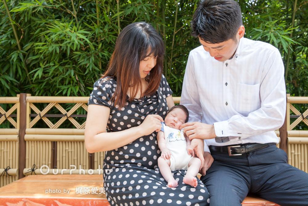 赤ちゃんへの愛情いっぱい!温かいお宮参りの撮影