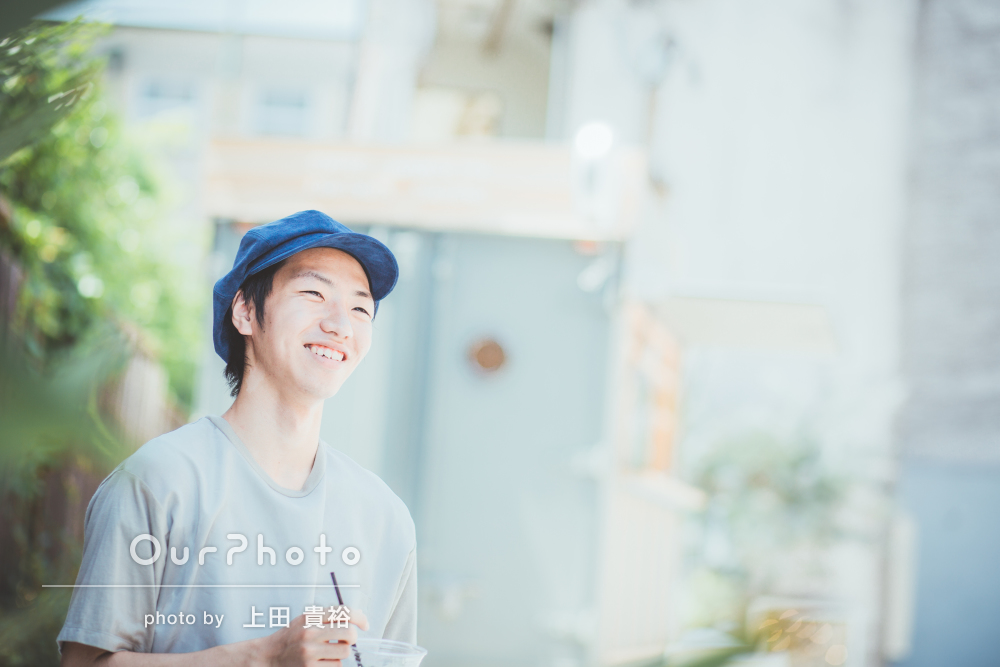「期待以上の写真に」京都にて夏の爽やかプロフィール写真撮影