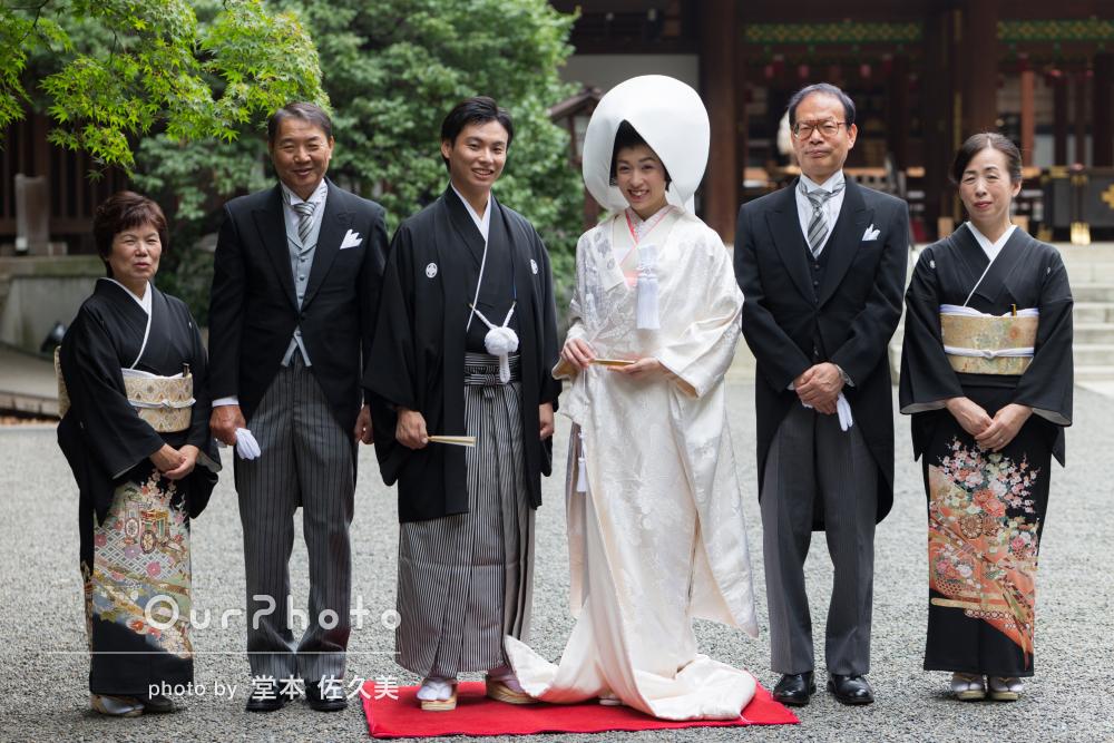 日本らしく厳かな幸せいっぱい神前式のウェディングフォト