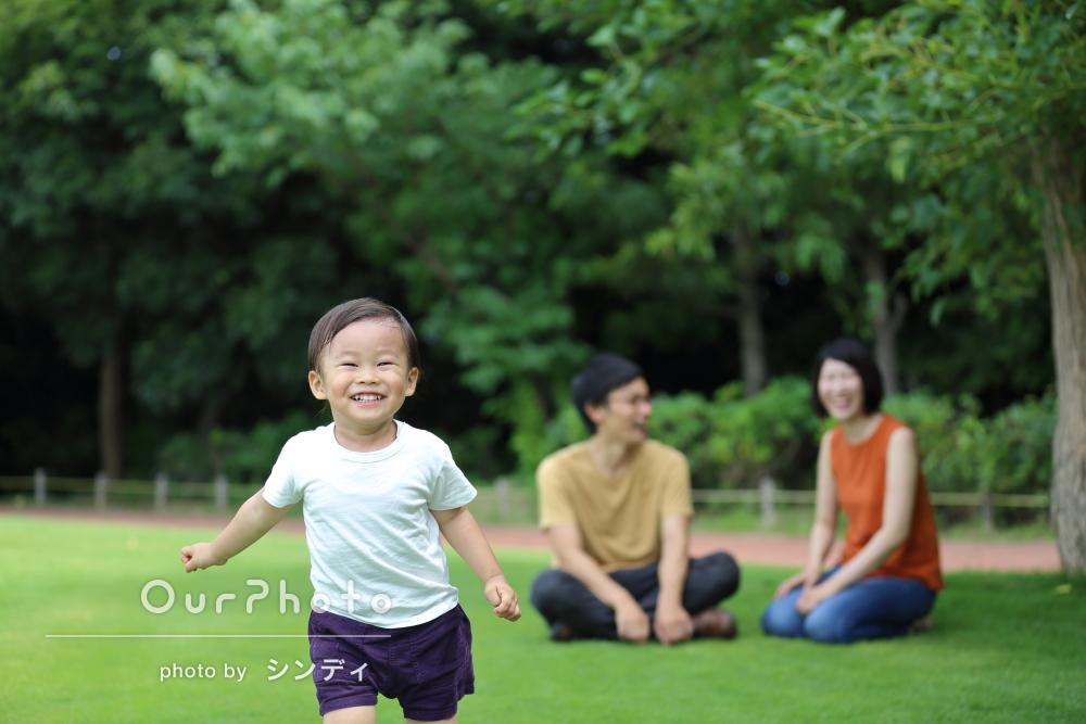 「楽しかったです」お子様の2歳記念に家族写真の撮影