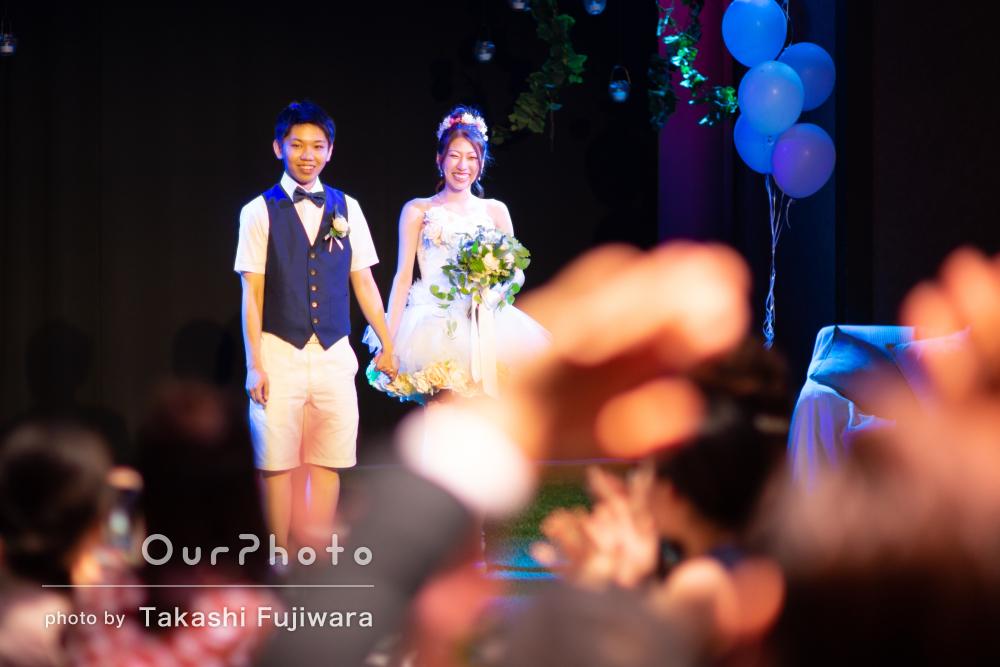 「依頼して本当に良かった」結婚式の二次会のようすを撮影