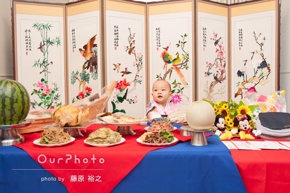 「とても楽しい時間」韓国式の1歳お誕生日会の撮影