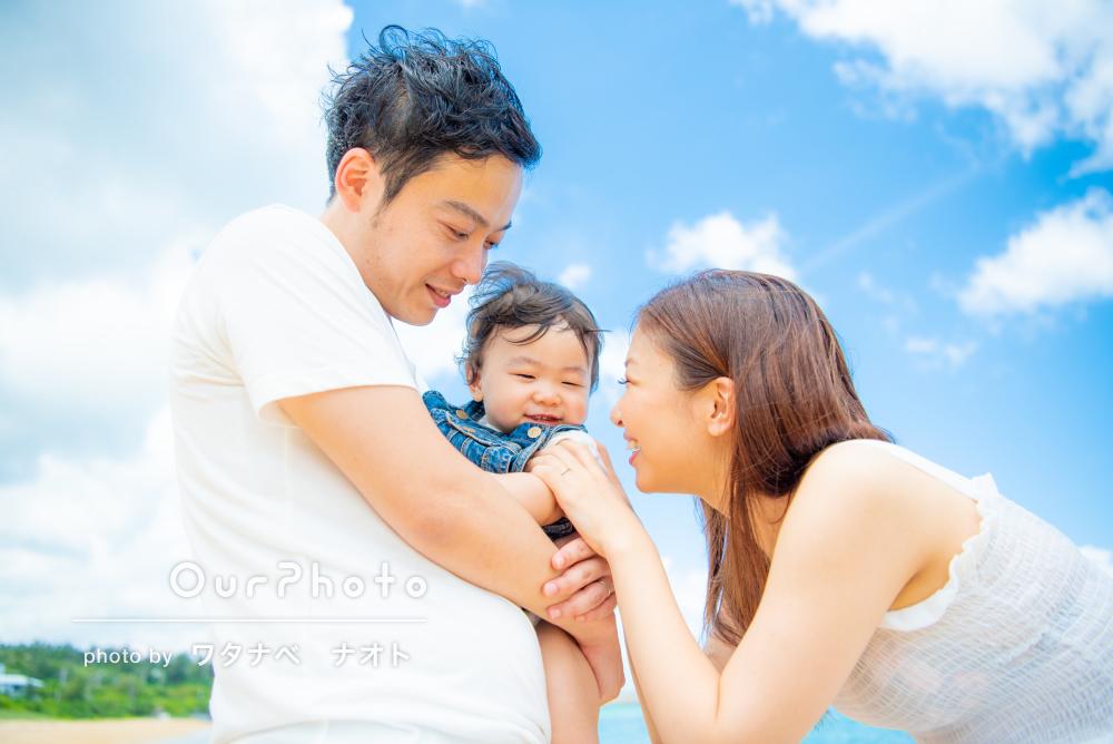 「夫婦、息子共々、感謝」沖縄にて笑顔あふれる家族の撮影会