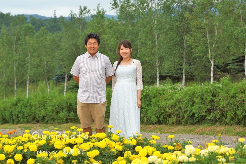 「本当に楽しい撮影でした!」富良野で仲良しカップルの旅行写真