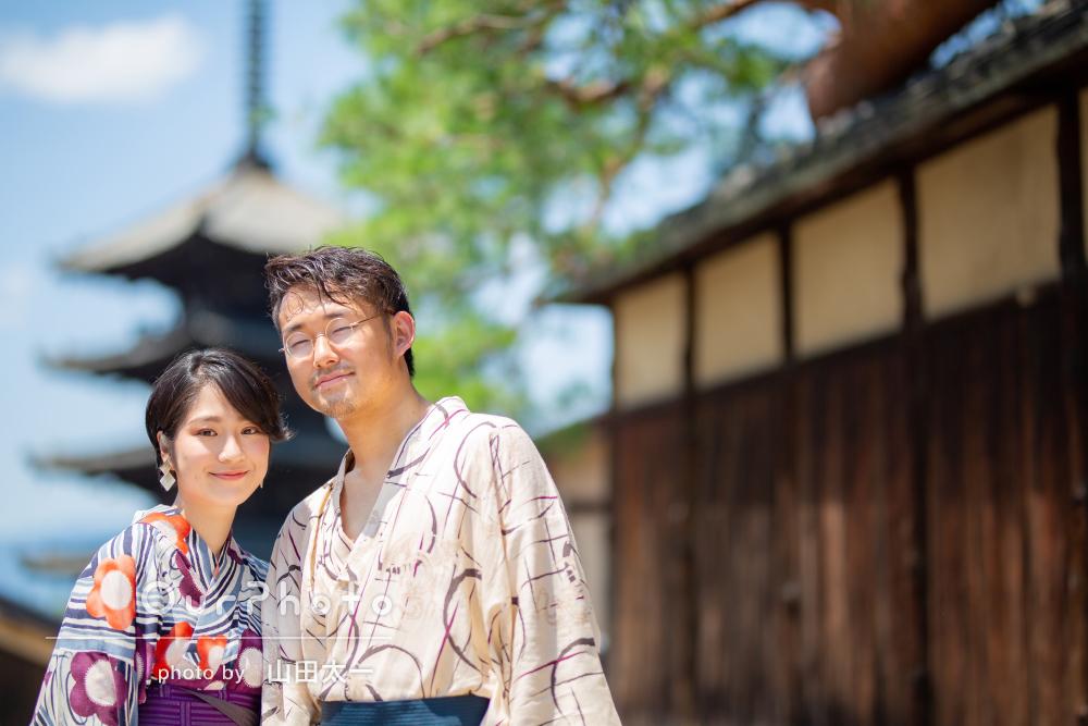 「ガイドもしていただきながら楽しく」京都を着物でカップルフォト