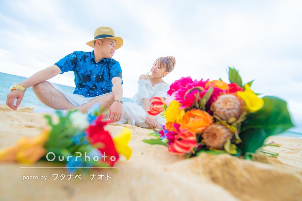 「結婚式で必ず使います!」手作りブーケも。沖縄でフォトウェディング